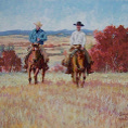 The Boys Of Redwater Valley acrylic gouache painting